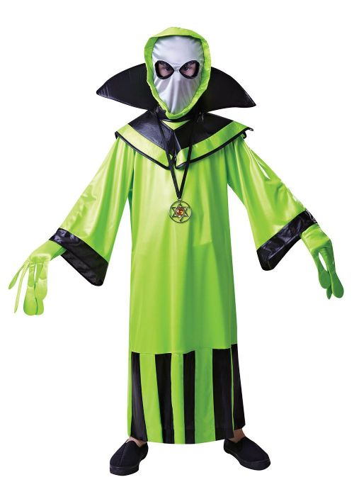 Boys Alien Childs Costume UFO Space Villian Fancy Dress Outfit